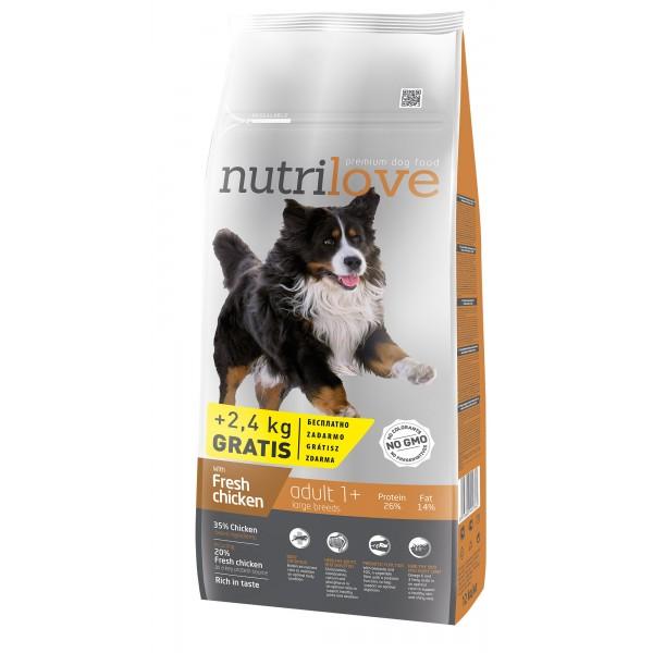 Nutrilove Adult L для взрослых собак с курицей 3 кг