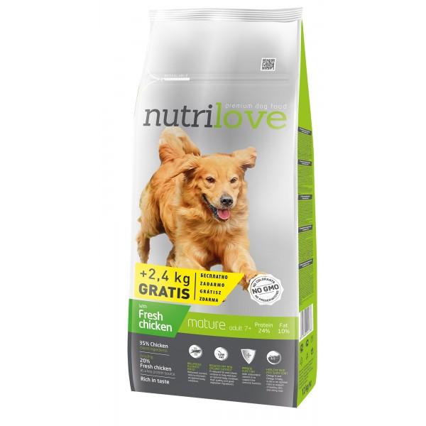 Nutrilove Senior Adult 7+ для пожилых собак всех пород 3 кг