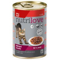 Nutrilove консерва говяжьи кусочки в ароматном желе 0.415 gr