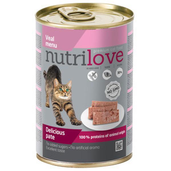 Nutrilove консерва паштет из телятины 0.415 gr