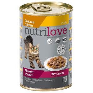 Nutrilove консерва куриные кусочки в ароматном желе 0.415 gr