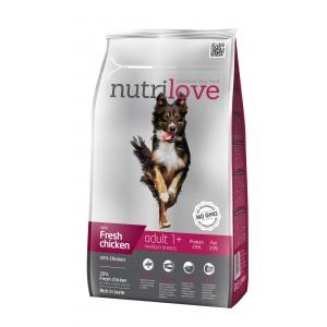 Nutrilove Adult M для взрослых собак с курицей 1,6 кг