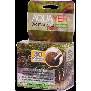 Грунтовое удобрение для аквариумных растений AQUAYER Таблетки Железо плюс 30шт