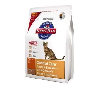 Hill`s Feline Adult Optimal Care корм для взрослых кошек (ягненок) 2 кг