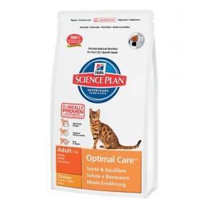 Hill`s Feline Adult Optimal Care  корм для взрослых кошек (курица) 15 кг
