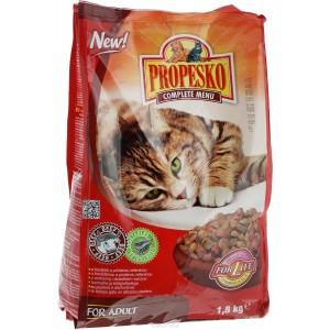 Propesko сухой корм для кошек с говядиной и овощами, 0,4 кг