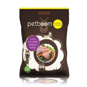 Petboom для собак с птицей и овощами 10 кг