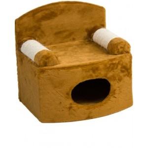 Дряпка «Диван-дом» коричневый 45х45х45 см