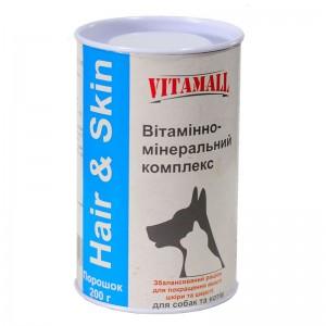 Витаминно-минеральный комплекс 200гр VitamAll Hair & Skin(кожа и шерсть)